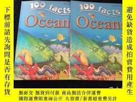 二手書博民逛書店100罕見Facts - Oceans【英文原版書 彩印】大16