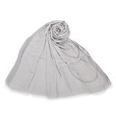 CalvinKlein CK大字母絲質寬版披肩圍巾(銀白色)103259