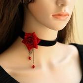 飾品玫瑰頸錬女短款項圈項錬