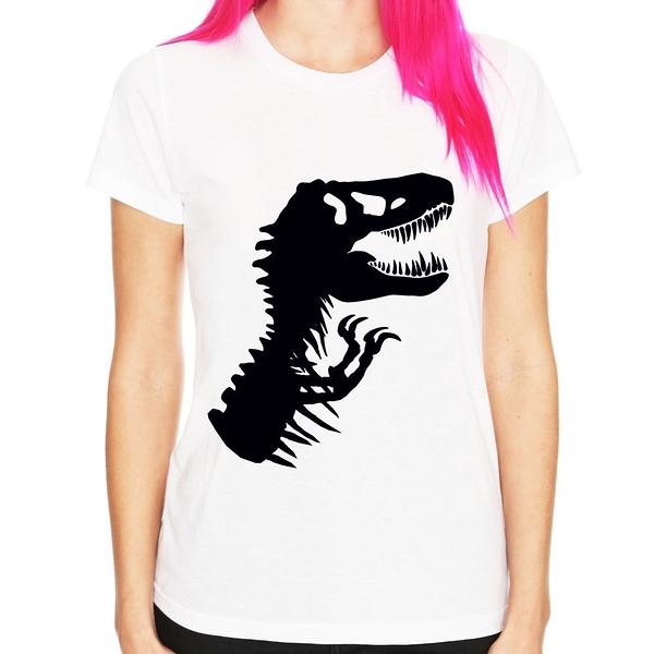 T-Rex Skeleton男女短袖T恤3色 暴龍肋骨恐龍侏儸紀公園侏紀羅世界電影Jurassic t 390