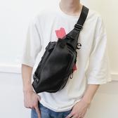 費萊德男士胸包皮包休閒時尚單肩包斜挎包韓版潮男包胸前背包腰包