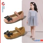 女童皮鞋春秋新款小熊公主鞋可愛甜美兒童單鞋韓版淺口奶奶鞋 夏季新品