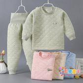 寶寶保暖衣套裝棉質內里嬰兒加棉高腰褲套裝兒童保暖內衣男童加厚