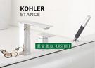 【麗室衛浴】美國 KOHLER  STANCE 三孔檯面式浴缸龍頭(鉻) K-14774T-4-CP