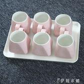 托盤茶盤家用長方形白色黑色密胺餐盤客房盤水杯盤蛋糕面包盤兒童YYP 伊鞋本鋪