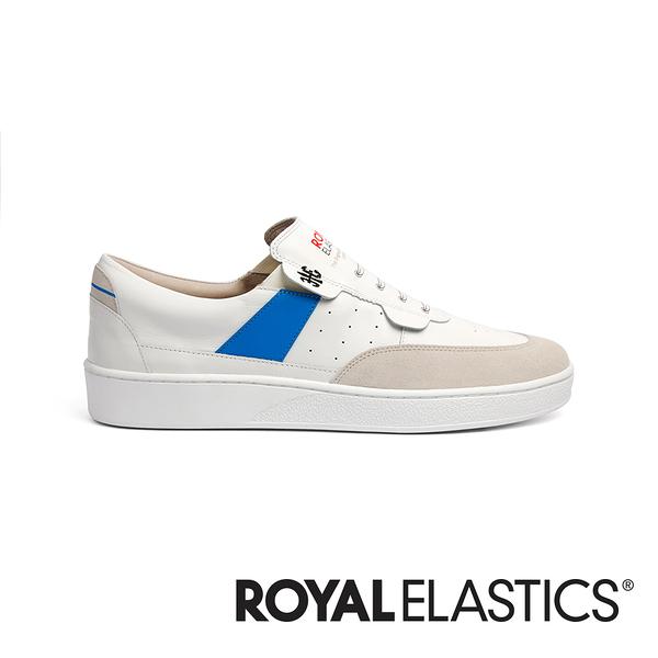 ROYAL ELASTICS Pastor 白藍真皮時尚休閒鞋 (女) 91891-005