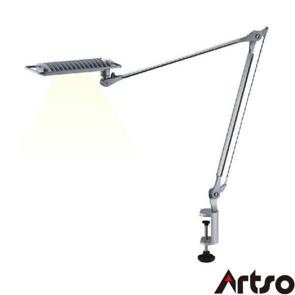 【Artso亞梭】極光LED雙臂夾燈-德國歐司朗OSRAM進口穩度高最新健康光源護眼檯燈