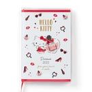 小禮堂 Hello Kitty 日製 2021 迷你行事曆 手帳 年曆 記事本 (白紅 香水) 4550337-57282