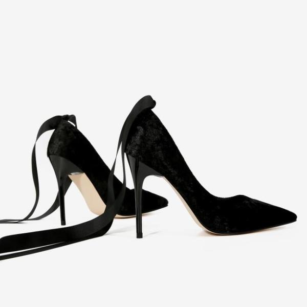 2019春季新款尖頭淺口超高百搭單鞋天鵝絨細跟高跟鞋女夏6 8 10cm