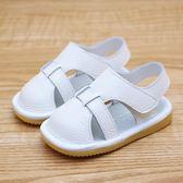 學步鞋 寶寶涼鞋男真皮嬰兒涼鞋6-12個月防滑學步鞋軟底寶寶鞋子女1-3歲  寶貝計畫