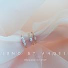 戒指女食指玫瑰金日韓個性森繫清新手作天然水晶石珍珠時尚