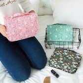 《99元專區》時尚高質感防潑水花紋可懸掛旅行用盥洗包/化妝包/小物收納包-咖啡