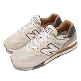 New Balance 復古休閒鞋 574 男鞋 米 灰 麂皮 基本款 休閒鞋 NB 【ACS】 ML574PO2-D