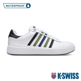K-SWISS Pershing Court Light WP防水時尚運動鞋-男-白/黑/橄欖綠/藍