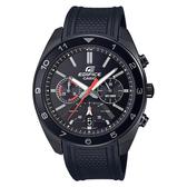 CASIO 卡西歐 手錶專賣店 EDIFICE EFV-590PB-1A 帥氣賽車型男錶 橡膠錶帶 黑面 防水100米 日期顯示