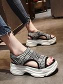 厚底涼鞋 運動涼鞋女夏季2019新款韓版ulzzang百搭鬆糕厚底時尚休閒沙灘鞋
