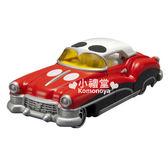 〔小禮堂〕迪士尼 米奇 TOMICA小汽車《紅.轎車》DM-01經典造型值得收藏  4904810-44992
