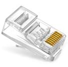 【世明國際】六類穿孔式水晶頭 cat6通孔RJ45網路線接頭 8P8芯純銅鍍金