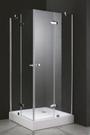 【麗室衛浴】新款  無框8mm 強化玻璃 L型 一字四門 外開式淋浴拉門
