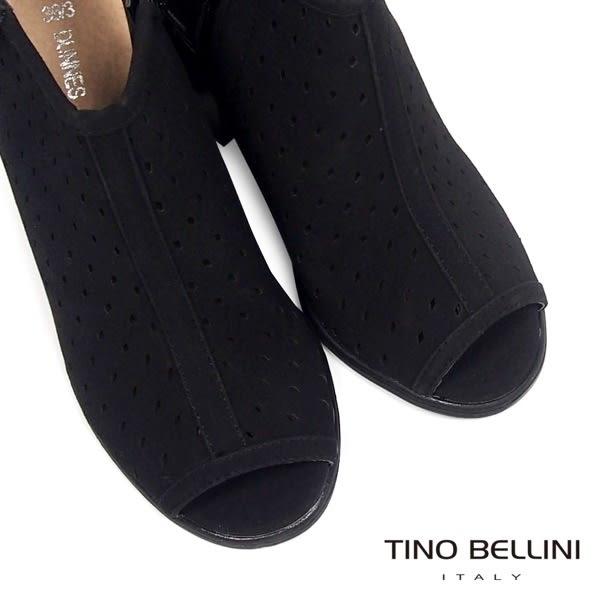 ★↘3折★Tino Bellini 時髦摩登魚口粗跟涼踝靴(黑)_A63086  2016SS 網路限定價