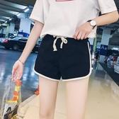 運動短褲女夏加大尺碼新款外穿寬鬆顯瘦網紅高腰熱褲健身休閒跑步睡褲