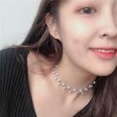 珍珠項鏈女韓國頸帶脖鏈choker項圈頸鏈網紅脖子飾品短款鎖骨鏈潮