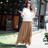 短袖裙裝 蕾絲收腰一字領短袖上衣長裙套裝【NDF6677-8】ENTER  05/05