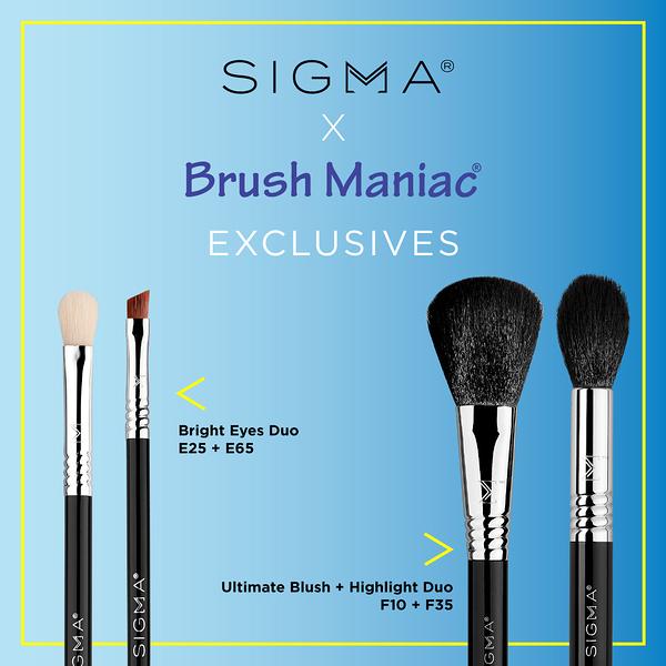 Sigma X Brush Maniac 全球聯名獨賣 Bright Eyes Duo Set 閃亮有型眼刷二入組