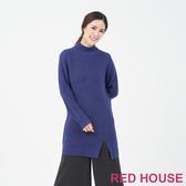 【RED HOUSE 蕾赫斯】長版開岔針織洋裝(共3色)