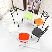 椅子現代簡約餐廳椅懶人時尚家用凳子靠背酒店椅子餐椅鐵藝成人椅 【全館免運】嚴選