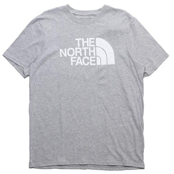 THE NORTH FACE 短T 短袖 淺灰 基本款 大LOGO 版型偏大 男 (布魯克林) NF0A4QQ7DYX