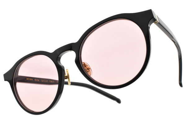 NINE ACCORD 太陽眼鏡 ELSA C2 (黑-粉鏡片) 復古圓框 墨鏡 BTS 防彈少年團 田柾國 配戴款
