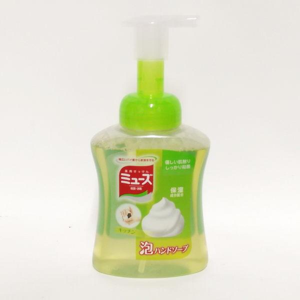 日本 地球製藥 MUSE 抗菌泡沫洗手乳250ML( 綠罐廚房用) (1194) -超級BABY