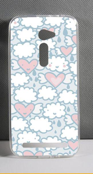 ♥ 俏魔女美人館 ♥ ASUS 華碩5吋 Zenfone 2 /ZE500CL {雲朵愛心*軟殼} 手機殼 手機套 保護套 保護殼