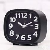 創意靜音鬧鐘懶人兒童小鬧鐘鬧表臥室床頭電子時鐘座鐘 HH3067【極致男人】