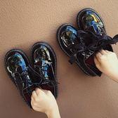 小皮鞋女2018新款百搭英倫風厚底增高學生單鞋復古粗跟女鞋潮【週年店慶好康八五折】