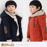 男童外套 加厚絨極暖連帽外套(紅) 魔法Baby