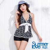 【SUMMERLOVE夏之戀】淑女款長版二件式泳衣-S15728