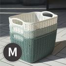 收納籃 籃子 置物籃 收納盒 編織籃【Z0254】韓系簡約仿編織收納籃M 韓國製 收納專科