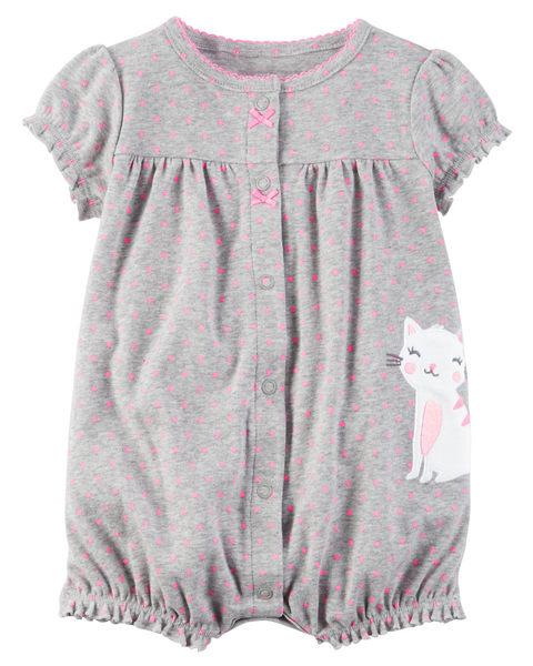 【美國Carter's】純棉連身衣- 點點貓咪系列 #118G946