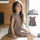 女童洋裝 雙層繡花飛袖連身裙 韓國外貿中大童 18611405