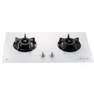 【歐雅系統家具】喜特麗JT-GC209AW-雙口白色玻璃檯面爐