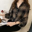 DE shop - BF格子長袖襯衫 -...