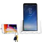 OATSBASF 手機牆壁支架 壁掛 掛勾 華碩 ASUS LG SONY HTC 手機 展示架 固定架 可收納線材 鑰匙 簡約生活