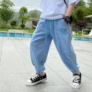 男童天絲牛仔褲防蚊2021夏裝新款韓版潮洋氣中大童兒童裝薄款褲子 一米陽光