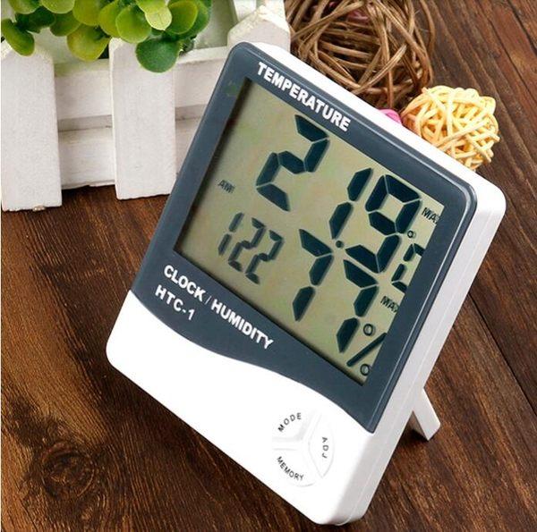 家用溫度計室內高精度電子掛鐘溫濕度計兒童鬧鐘時鐘學生座鐘嬰兒「摩登大道」