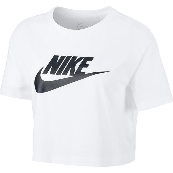 【現貨】NIKE NSW 女裝 短袖 短版 寬鬆 休閒 大勾 基本 純棉 白 【運動世界】BV6176-100