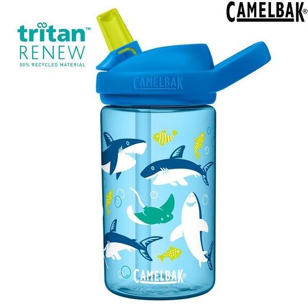 『VENUM旗艦店』Camelbak eddy 400ml 兒童水壺/吸管運動水瓶 Renew CB2472402041 鯊魚樂園