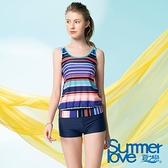 【南紡購物中心】【Summer Love 夏之戀】休閒款長版二件式(S21715)