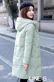 爆款羽絨棉衣棉服2020年秋冬新款韓版修身中長款加厚棉襖女外套潮 LINE-S